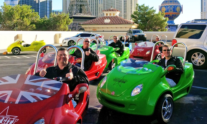 Scoot City - Las Vegas: $199 for a Two-Person Scootercar Tour of the Las Vegas Strip from Scoot City Tours ($250 Value)