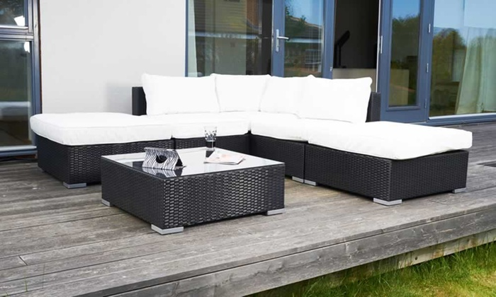Outdoor conservatory furniture set groupon goods for Outdoor furniture groupon