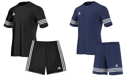 Adidas Entrada Sports TShirt and Shorts Set for £21.99 With Free Delivery