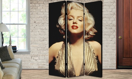 groupon daily deal - 70''x48'' Artistic Folding Room Dividers. Multiple Screens Available. Free Returns.