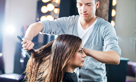 A Haircut, Partial or Full Highlight or Single Process Color, and Blowout at Caldissima Salon (Up to 49% Off) c4e0f466-d717-476a-b11d-5234be571fb5