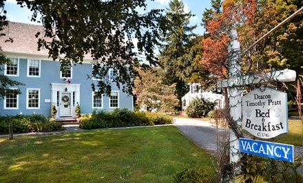 Groupon Deal: 1- or 2-Night Stay at Deacon Timothy Pratt Bed and Breakfast in Old Saybrook, CT
