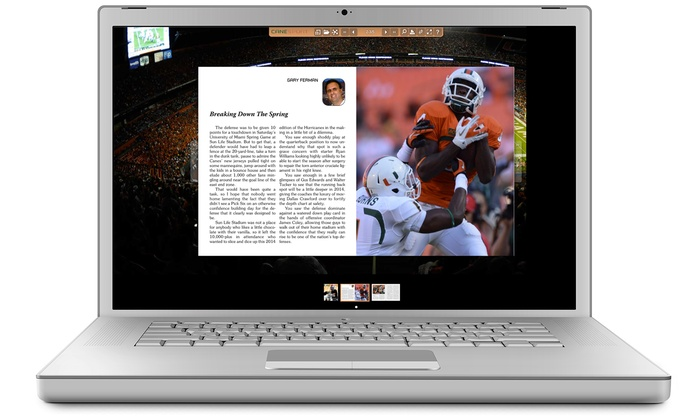 """Canesport Magazine Online - Miami: $22 for a One-Year Digital Subscription to """"CaneSport Magazine"""" ($44.95 Value)"""