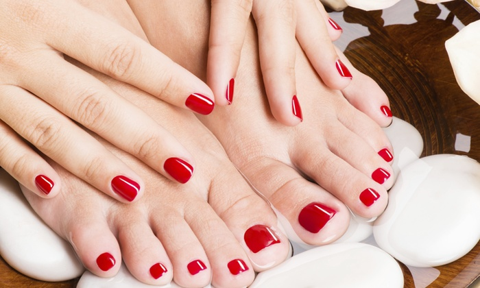Lady Godiva Hair Studio - Downtown Colorado Springs: $39 for One Mani-Pedi at Lady Godiva Hair Studio ($80 Value)