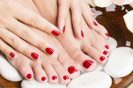One or Two Mani-Pedis at Lady Godiva Hair Studio (Up to 53%Off)