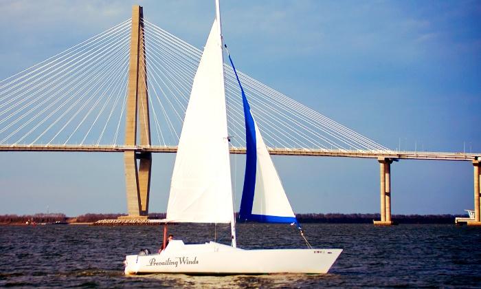 Prevailing Winds Catamaran Sailing Charter -  Charleston Sailing Adventures: BYOB Sailing Excursions from Prevailing Winds Catamaran Sailing Charter (Up to 50% Off). Three Options Available.