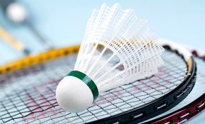 Badminton for Two or Four at Bay Badminton Center (Up to 58% Off). Two Options Available.