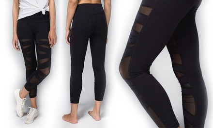 Women's Sheer Panel Leggings