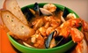 Louie Linguini's - New Monterey: Italian Seafood Meal with Cioppino Stew and Dessert for Two or Four at Louie Linguini's (Up to 51% Off)