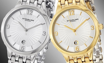 groupon daily deal - Stührling Original Men's Classic Watch in Silver or Gold Tone