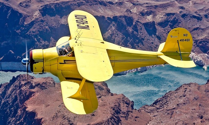 West Air Aviation - North Las Vegas: 30- or 60-Minute Tour of Las Vegas in Iconic Airplane for Up to Three at West Air Aviation (Up to 52% Off)