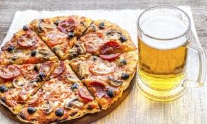 Pizza Bios: Menu d'asporto con pizza alla carta, antipasto e birra per 2 o 4 persone alla pizzeria Pizza Bios (sconto fino a 61%)