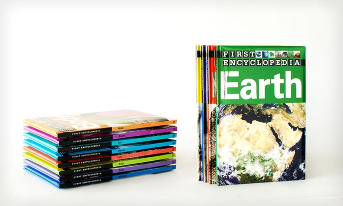 12 First Encyclopedia Hardcover Books: $27 for a Set of 12 Kids' First Encyclopedia Hardcover Books ($155.88 List Price). Free Shipping.