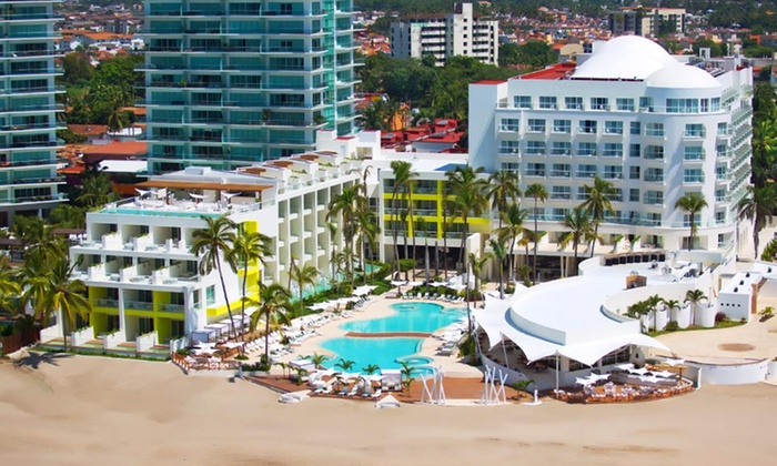 All-Inclusive Hilton Puerto Vallarta Resort with Airfare from Vacation Express: 4-Night All-Inclusive Mexico Vacation with Airfare. Price/Person Based on Double Occupancy. Includes Taxes and Fees.