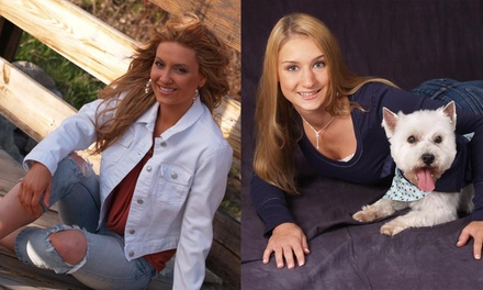 $29 for $519 Worth of High School Senior Photo Shoot at Glamour Shots Photo