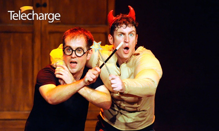 """""""Harry Potter"""" Parody - Hell's Kitchen: """"Harry Potter"""" Parody """"Potted Potter"""" at Little Shubert Theatre, May 30–June 13 (Up to 49% Off). 40 Options Available."""