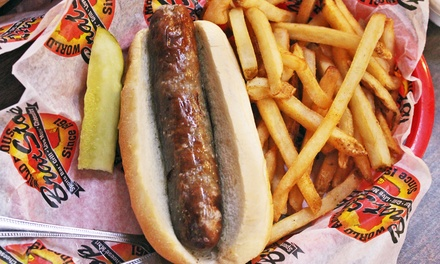 Brats and Casual American Food for Two or Four or More at The Brat Stop (Up to 46% Off)