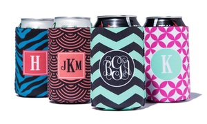 One Or Four Personalized Koozies From Paper Concierge (up To 61% Off)