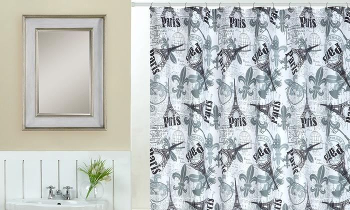paris bathroom set.  Paris Themed Bathroom Decor Set 18 Piece Groupon