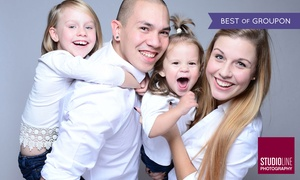 STUDIOLINE PHOTOGRAPHY: 90 Min. Family/Kids-Fotoshooting + Make-up u. Bildern als Datei u. Abzug bei STUDIOLINE PHOTOGRAPHY (bis zu 73% sparen*)