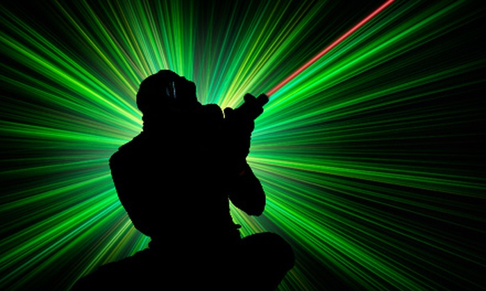 The Family Fun Center XL - South Central Omaha: $19 for $40 Worth of Glow Golf, Lazer Tag, Bazooka Ball, and Other Activities at The Family Fun Center XL