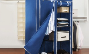 "$39.99 For A Simplify 48"" Portable Closet In Black Or Blue ($66 List Price). Free Shipping And Returns."