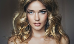 Haircut And Style With Partial Highlights Option At Parvin (up To 61% Off)