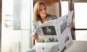 "Boston Globe: 26 Weeks of Sunday Home Delivery, Unlimited Digital Access, or Both from the ""Boston Globe"" (Up to 74% Off)"