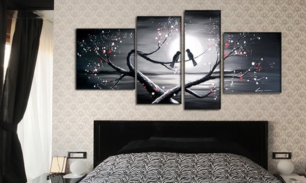 Gallery-Wrapped and Hand-Painted Single- and Multipanel Oil Paintings on Canvas from $49.99-$89.99