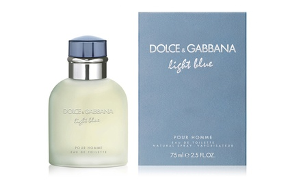 Dolce & Gabbana Light Blue Pour Homme Eau de Toilette for Men (2.5 Fl. Oz.)