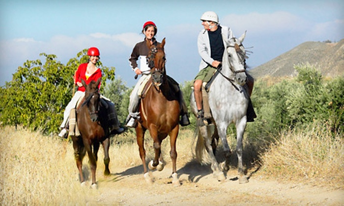 Sleepy Sheep Ranch - Whitewright: $59 for a Three-Hour Trail Ride with Brisket or Baby-Back-Ribs Dinner from Sleepy Sheep Ranch ($170 Value)