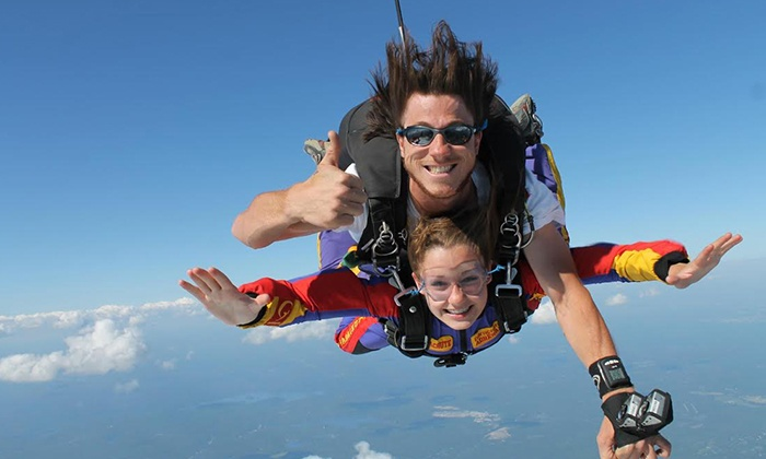 Groupe Adrénaline - Multiple Locations: $189 for a Tandem Parachute Jump for One with Adrénaline Group ($299 Value), 4 Locations