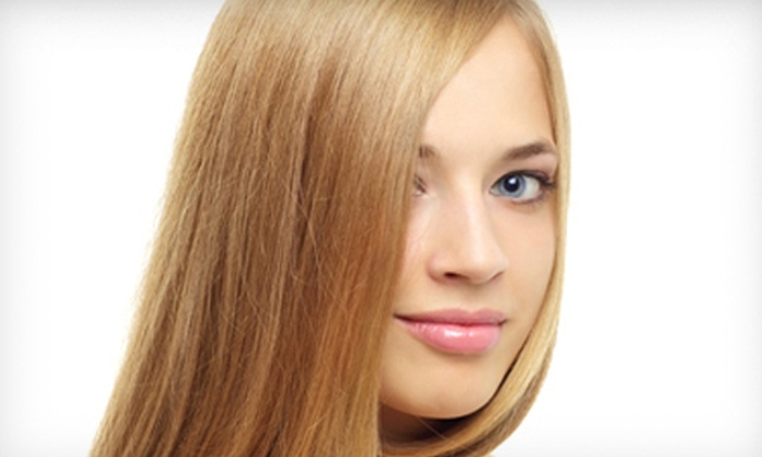 90 Degrees Salon - Piper Glen Plaza: Haircut with Choice of Deep Conditioning or Color and Gloss, or a Keratin Treatment at 90 Degrees Salon (Up to 68% Off)