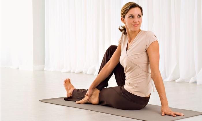 Pura Vida Yoga - Marina: One Month of Yoga Classes or 10 Yoga Classes at Pura Vida Yoga (Up to 73% Off)
