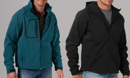 Zorrel Men's Soft-Shell Jackets. Multiple Styles Available from $29.99–$34.99.