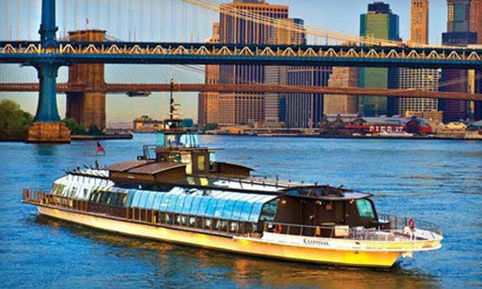 """Entertainment Cruises and Bateaux New York - Chelsea Piers: Three-Hour Dinner Cruise on """"Bateaux New York,"""" Redeemable Sunday–Thursday or Friday–Saturday (Up to Half Off)"""