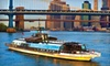 "Entertainment Cruises and Bateaux New York - Chelsea Piers: Three-Hour Dinner Cruise on ""Bateaux New York,"" Redeemable Sunday–Thursday or Friday–Saturday (Up to Half Off)"