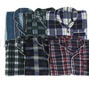 Two-Piece Plaid Men's Long Sleeve Pajama Sets