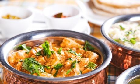 Indisches Menü mit 3 Hauptspeisen für Zwei oder Vier im Indigo