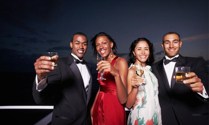 Yacht Party Cruises - Upper West Side: $48 for Boat Cruise with Dinner and Two Drinks from Yacht Party Cruises (Up to $96.50 Value)