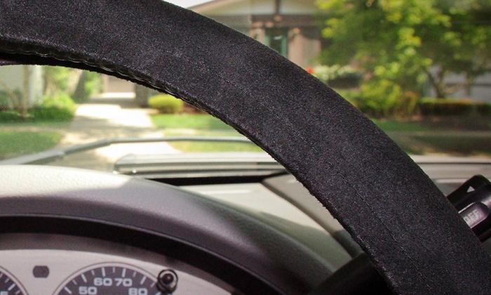 scrunchie steering wheel cover groupon goods. Black Bedroom Furniture Sets. Home Design Ideas