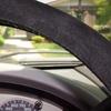 Black Micro-Suede Scrunchie Steering Wheel Cover