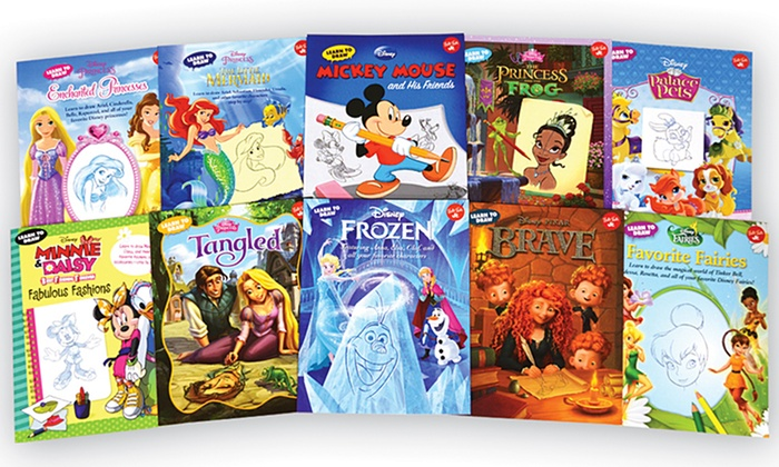 Groupon Goods: Disney Learn to Draw 10 Book Set (Shipping Included)