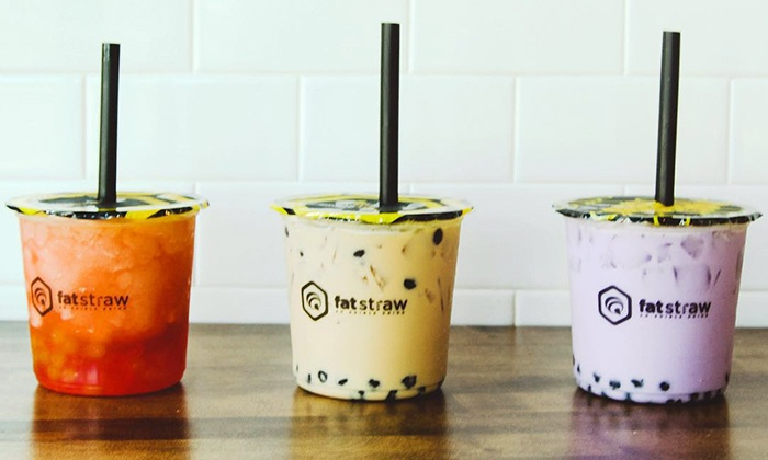 Fat Straw - Gilbert: Two, Four, or Six Groupons, Each Good for $5.89 Worth of Bubble Tea at Fat Straw (41% Off)