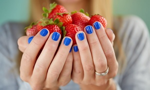 Le NuVo Salon and Spa: One or Two No-Chip Manicures with Hand Exfoliations at Le NuVo Salon and Spa (58% Off)