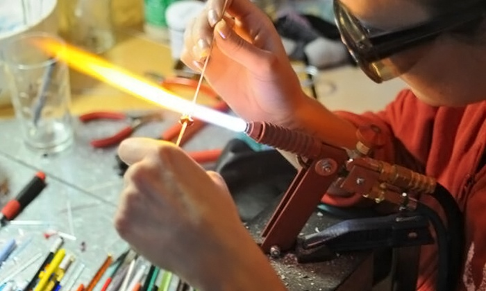 Flo Glassblowing - Hintonburg - Mechanicsville: Beginners Glass Bead-Making Class for One or Two at Flo Glassblowing (Up to 47% Off)