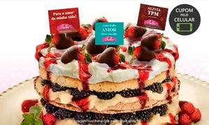 Doce Loucura – Vila Yara: Doce Loucura – Vila Yara: 1, 2, 3 ou 4 kg de bolo naked cake ou pavê + 3 plaquinhas decorativas