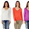 Women's V-Neck Sweater Tops