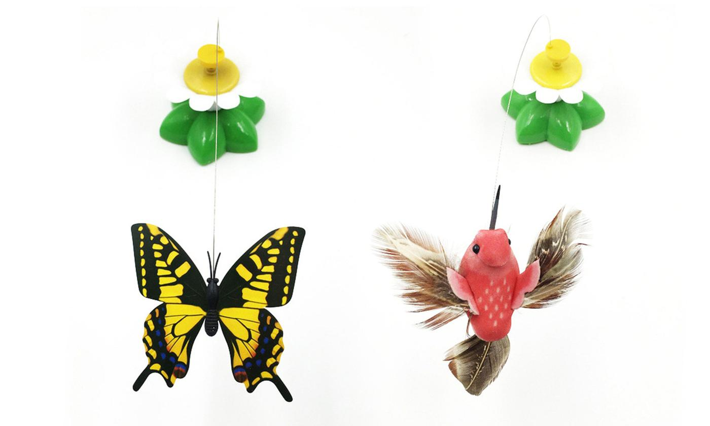 Moving Butterfly or Bird Cat Toy