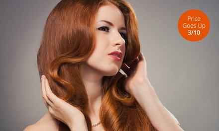 Hair Blowout with Options for Haircut or Partial Highlights Package at Avalon Spa & Salon (Up to 71% Off)